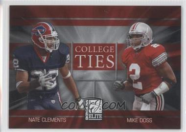 2003 Donruss Elite - College Ties #CT-15 - Nate Clements, Mike Doss /2000