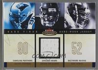 Julius Peppers, Brian Urlacher, Ray Lewis (Urlacher Jersey) [Noted] #/299