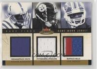 Marvin Harrison, Hines Ward, Eric Moulds #/150