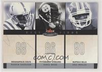 Marvin Harrison, Hines Ward, Eric Moulds [Noted] #/350