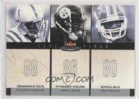 Marvin Harrison, Hines Ward, Eric Moulds [EX to NM] #/350