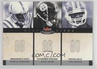 Marvin Harrison, Hines Ward, Eric Moulds /350