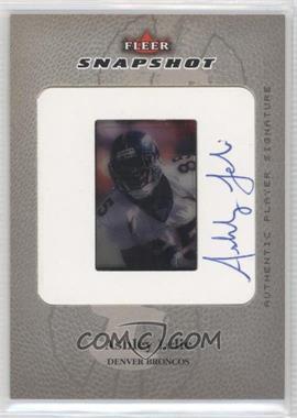 2003 Fleer Snapshot - 35mm Slides - Autographs [Autographed] #SSA/AL - Ashley Lelie /50