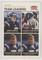 Drew Brees, LaDainian Tomlinson, Donnie Edwards #/200