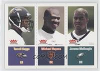 Terrell Suggs, Jerome McDougle, Michael Haynes