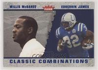 Edgerrin James, Willis McGahee [Noted] #/1,500