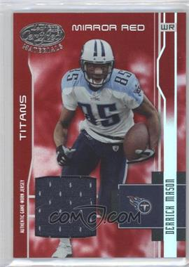 2003 Leaf Certified Materials - [Base] - Mirror Red Materials [Memorabilia] #128 - Derrick Mason /150