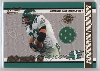 reputable site 5c418 83c94 2003 Pacific Atomic CFL - Authentic Game-Worn Jerseys #13 ...