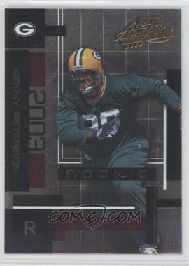 2003 Playoff Absolute Memorabilia - [Base] #133 - Kenny Peterson /1100