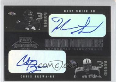 2003 Playoff Contenders - Round Numbers Quads - Autograph [Autographed] #RN-8 - Musa Smith, Chris Brown /100