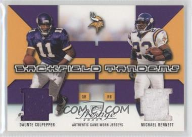 2003 Playoff Prestige - Backfield Tandems #BT-11 - Daunte Culpepper, Michael Bennett /400