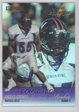 2003 Playoff Prestige - [Base] - Xtra Points Purple #222 - Angelo Crowell /25