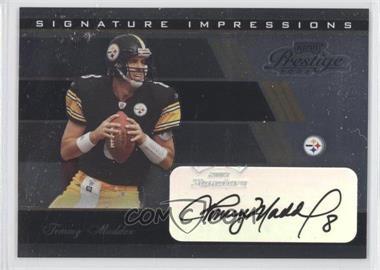 2003 Playoff Prestige - Signature Impressions #SI-23 - Tommy Maddox /50