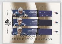 Bethel Johnson, Tom Brady, Kliff Kingsbury #/25