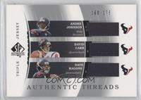 Andre Johnson, David Carr, Dave Ragone #/175