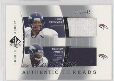 pretty nice 9e6a2 7ab6e 2003 SP Authentic - Double Jersey #DJC-JP/CP - Jake Plummer ...