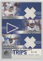 Peyton Manning, Edgerrin James, Marvin Harrison /35