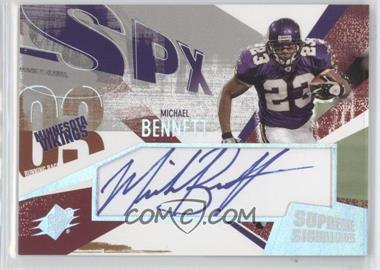 2003 SPx - Supreme Signatures #SS-MI - Michael Bennett
