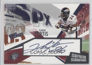 2003 SPx - Supreme Signatures #SS-PO - Clinton Portis