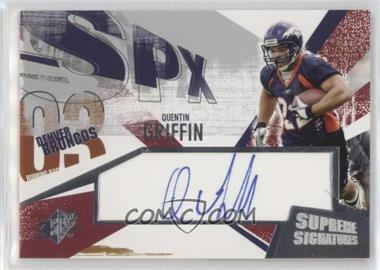 2003 SPx - Supreme Signatures #SS-QG - Quentin Griffin