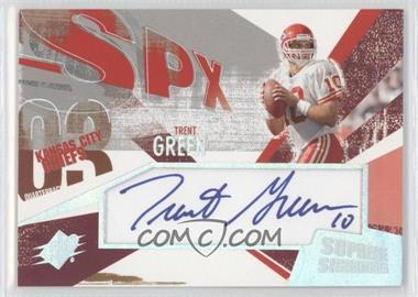 2003 SPx - Supreme Signatures #SS-TG - Trent Green