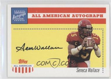 2003 Topps All American - All American Autographs #AA-SW - Seneca Wallace