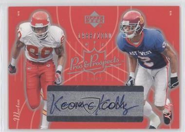 2003 Upper Deck Pros & Prospects - [Base] #134 - Kareem Kelly, Johnnie Morton /2000