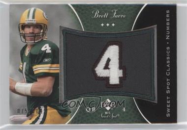 2003 Upper Deck Sweet Spot - Classics Embroidered Patch - Team Logo #P-BF - Brett Favre