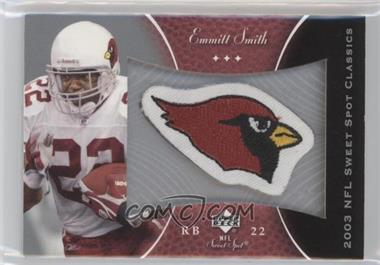 2003 Upper Deck Sweet Spot - Classics Embroidered Patch - Team Logo #P-ES - Emmitt Smith