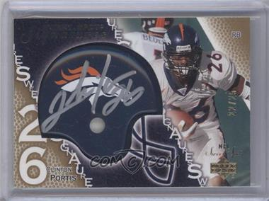 2003 Upper Deck Sweet Spot - Signatures - Gold #SS-PO - Clinton Portis /25