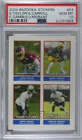 Sean Taylor, Ahmad Carroll, Chris Gamble, Johnnie Morant [PSA 10 GEM&…