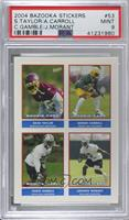 Sean Taylor, Ahmad Carroll, Chris Gamble, Johnnie Morant [PSA 9 MINT]