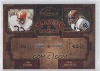 Jim Brown, Paul Warfield /750
