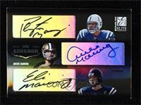 Peyton Manning, Eli Manning, Archie Manning #/100