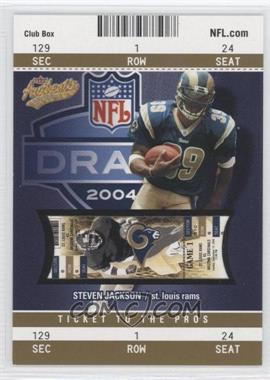 2004 Fleer Authentix - [Base] - Club Box Gold #108 - Steven Jackson /25