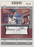 Larry Fitzgerald (Autographed by Dennis Green) #/250