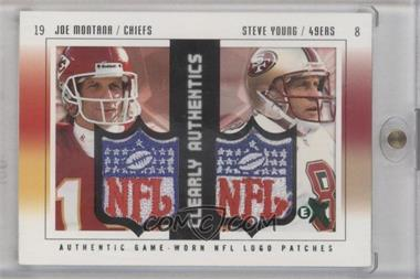 2004 Fleer E-X - [???] #JM/SY - Joe Montana, Steve Young /1