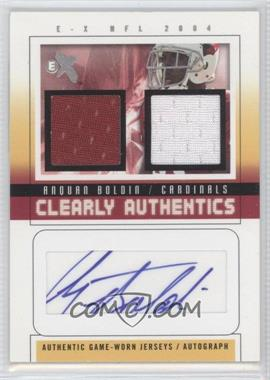 2004 Fleer E-X - Clearly Authentics - Pewter Dual Jersey Autographs [Autographed] #CA-AB - Anquan Boldin /41