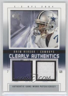 2004 Fleer E-X - Clearly Authentics - Pewter Dual Patch/Jersey #CA-DH - Drew Henson /44