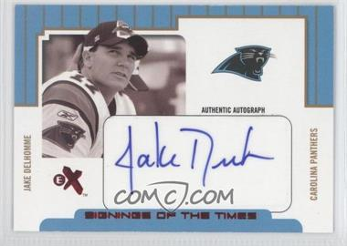 2004 Fleer E-X - Signings Of The Times - Red #STA/JD - Jake Delhomme /250
