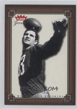 2004 Fleer Greats - [Base] #13 - Sammy Baugh