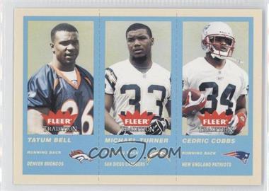 2004 Fleer Tradition - [Base] - Blue #359 - Tatum Bell, Michael Turner, Cedric Cobbs