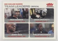 Rich Gannon, Zack Crockett, Jerry Rice, Phillip Buchanon #/150