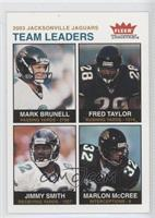 Mark Brunell, Fred Taylor, Marlon McCree, Jimmy Smith