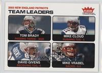 Tom Brady, Mike Cloud, David Givens, Mike Vrabel