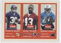 Mewelde Moore, Derrick Knight, Quincy Wilson