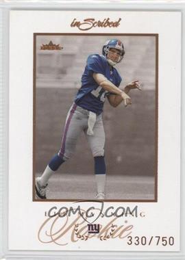 2004 Fleer inScribed - [Base] #76 - Eli Manning /750