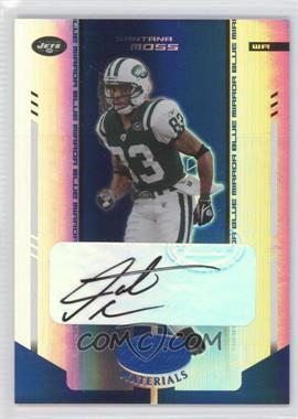 2004 Leaf Certified Materials - [Base] - Mirror Blue Signatures [Autographed] #85 - Santana Moss /100