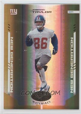 2004 Leaf Certified Materials - [Base] - Mirror Gold #171 - Jamaar Taylor /25