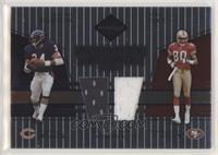 Jerry Rice, Walter Payton [Noted] #/50